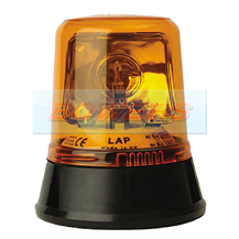 12v/24v 3 Bolt Mounted Rotating Halogen Amber Beacon